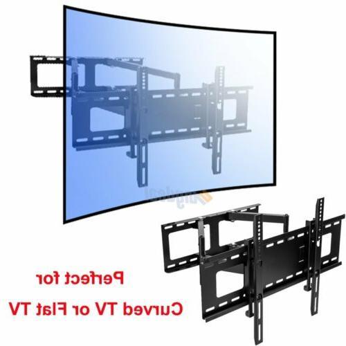 curved flat tv wall mount bracket led
