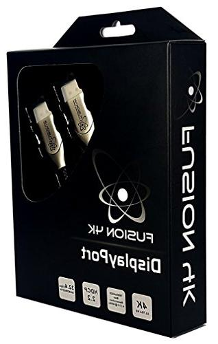 Fusion4k DisplayPort Cable 1.3 Professional Series Ultra HD 6 Feet