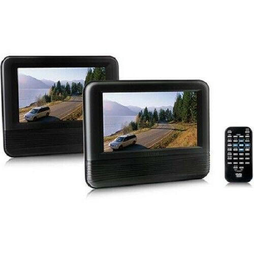 Dual Screen Entertainment System Portable DVD PLAYER Car Mount