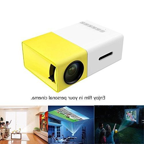E&Tree LED Video Home 1080P Built-in Speaker Player Cinema Projectors