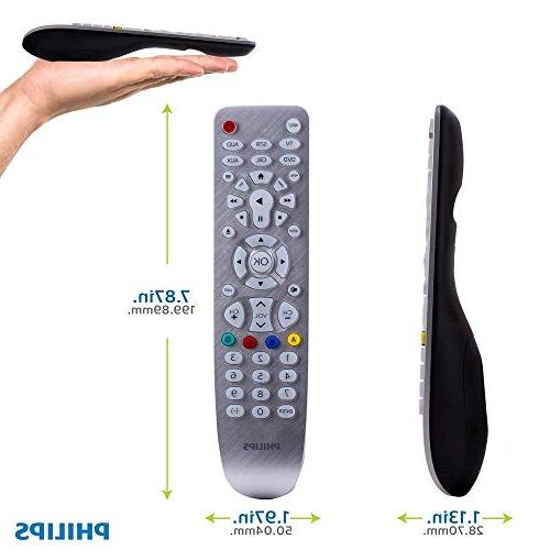 Philips Remote, Works with TVs, Vizio, Blu Streaming Pre-Programmed for TVs, Black, SRP3016S/27