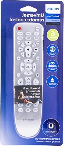 Philips Remote, TVs, Vizio, Sony, Blu Ray, Streaming Auto Scan, Pre-Programmed for Black, SRP3016S/27