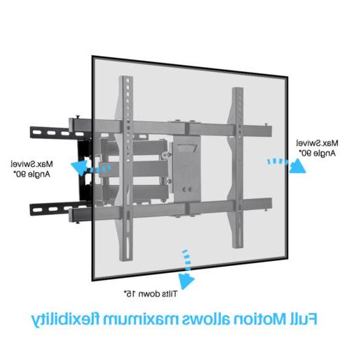 Flat Curved TV Mount Bracket Swivel Tiltting for Double Two Arm