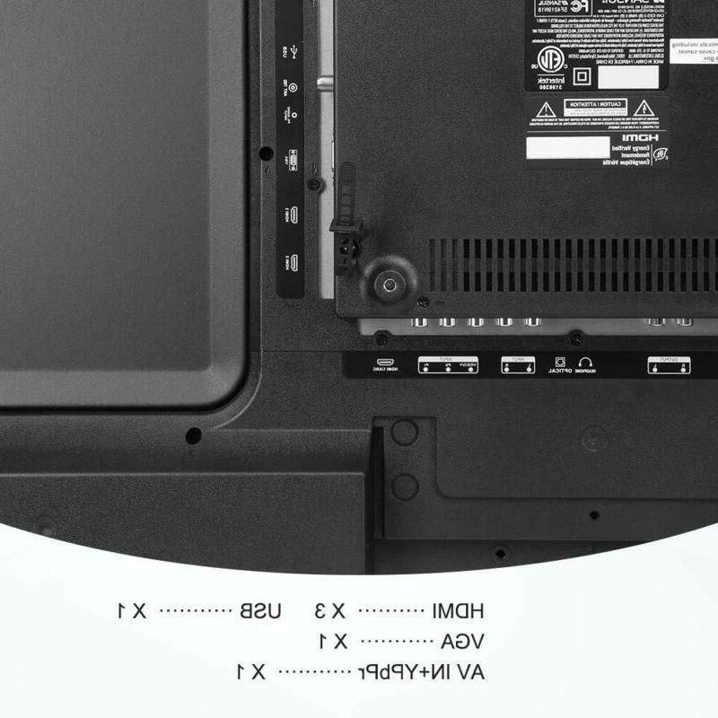 Flat Screen HDTV 1080p Ports Energy Saver