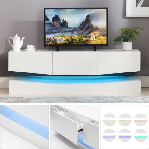 floating entertainment center led tv stand wall