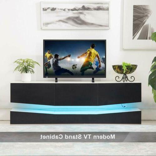 Floating TV Stand Wall Cabinet Black