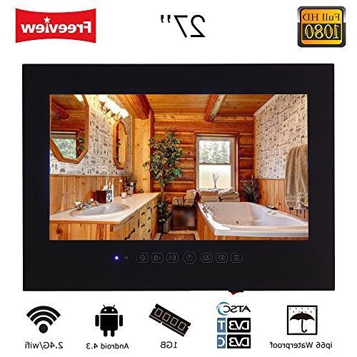 Soulaca 27 Frameless Smart Waterproof Bathroom Led Tv