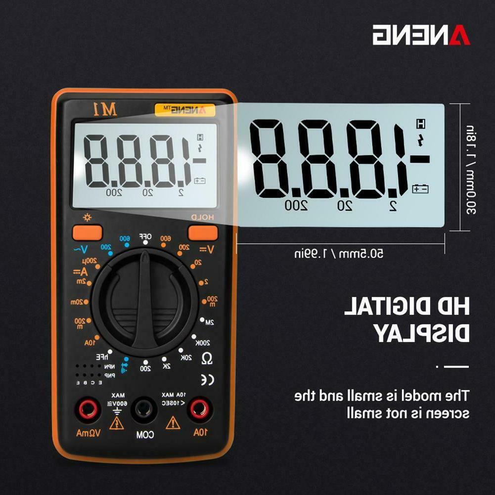 LED ANENG Display Digital Multimeter AC/DC Voltage/Current/Resistance Meter