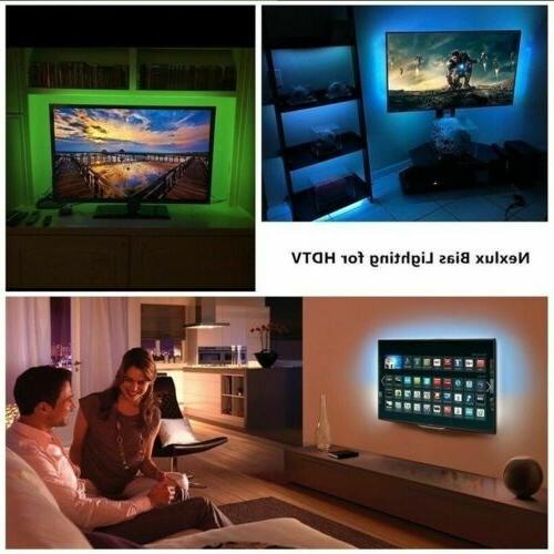 4 x TV LED Backlight RGB LED Light Remote 5V