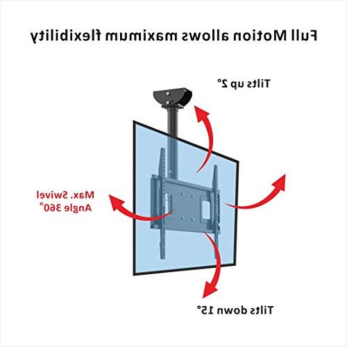 "Loctek CM2 Wall Ceiling Tilting TV Mount Fits 32-65"" LCD LED Plasma Flat Panel Screen Display"