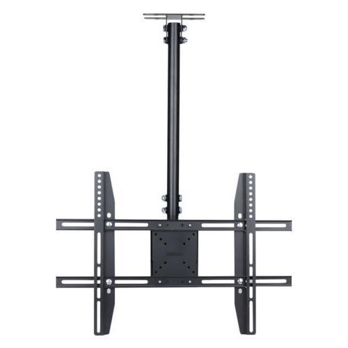 """Metal LCD Screen Hang Mount Ceiling Bracket Fit 65"""" Adjustable"""