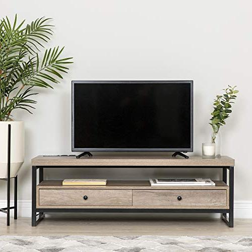 Best Mid-Century Modern TV Home Theater, Living Den w/Speakers, LED 3 Ports, Outlets, Input, Drawers
