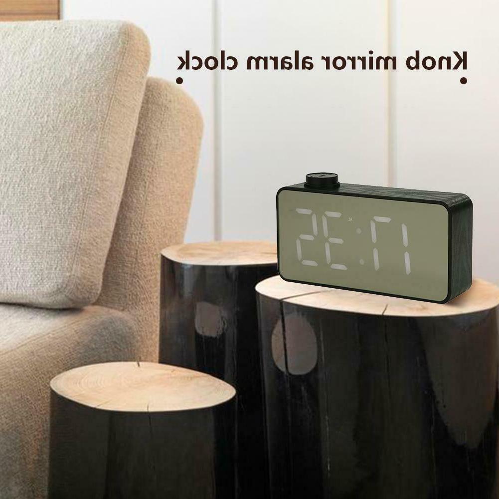 Mini LED Voice Desktop Clock Thermometer