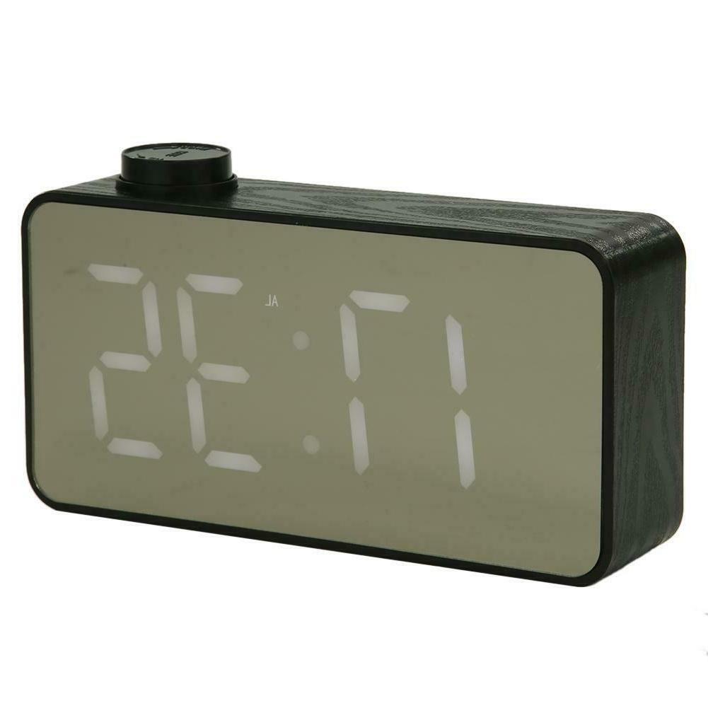 Mini Alarm Clock Desktop Clock Thermometer