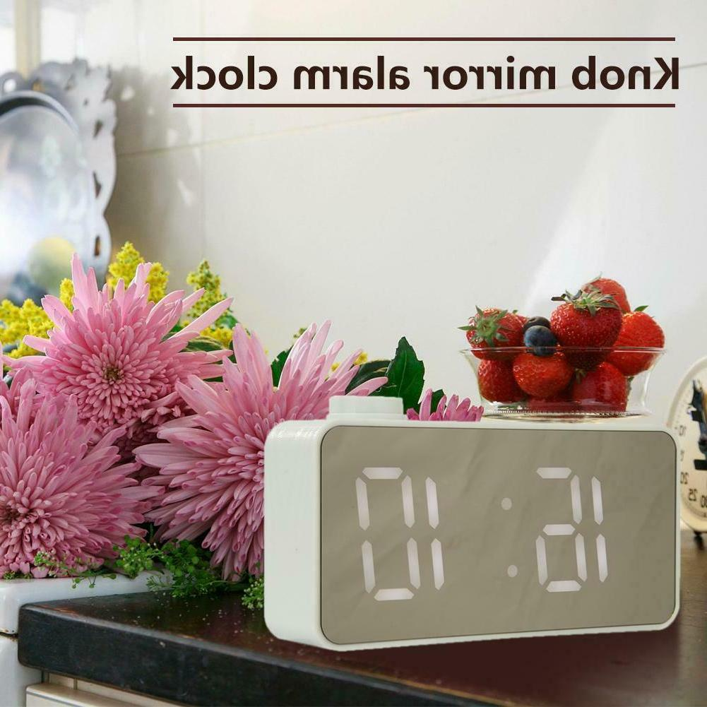 Mini LED Clock Voice Control USB