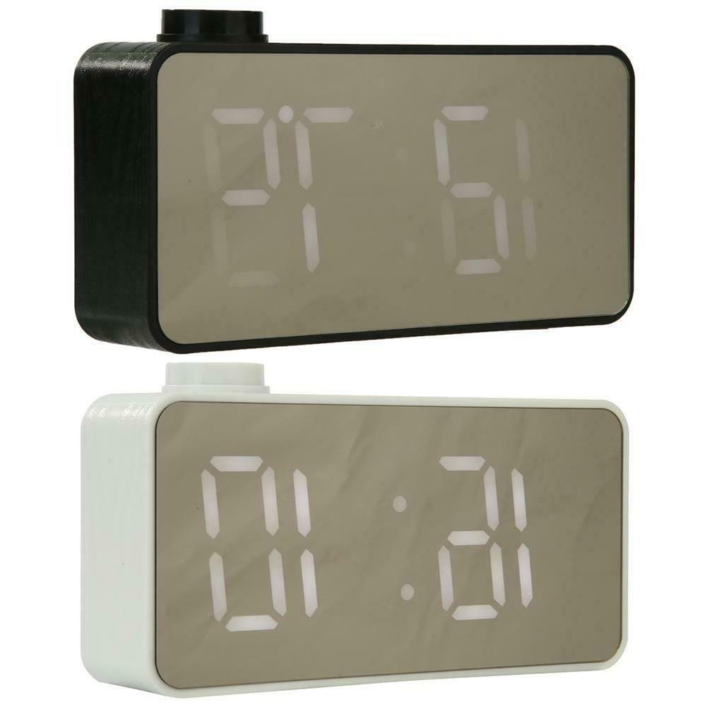mini led alarm clock voice control electronic