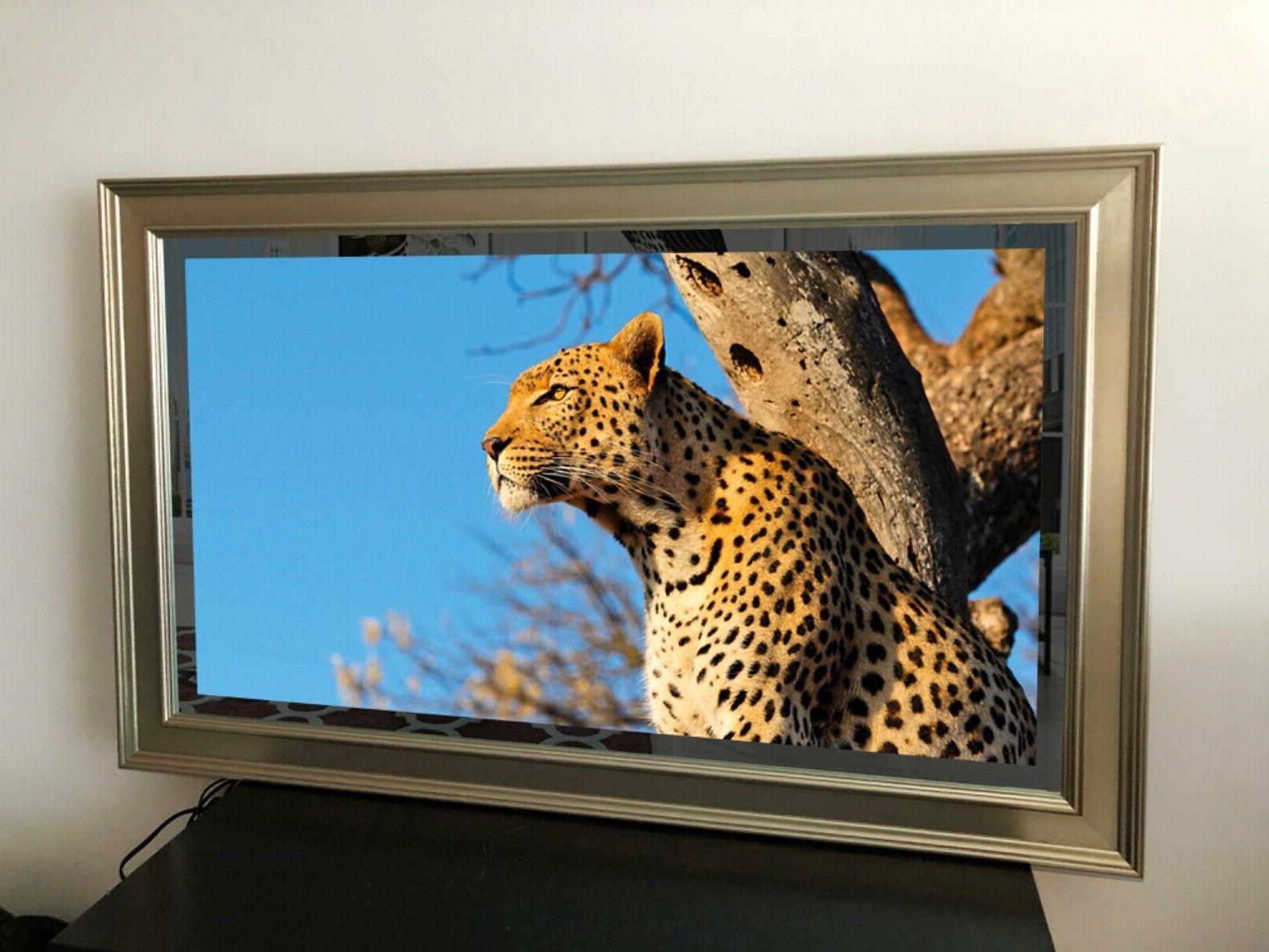 mirror tv 50 smart 4ktv silver gold