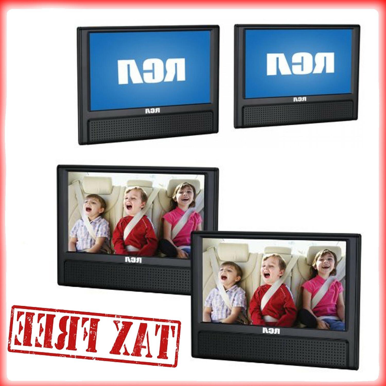 """RCA Mobile Car Dual Screen DVD Player 9"""" Portable AV CD Vide"""