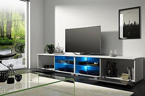 MEBLE FURNITURE New Moon Modern TV Stand High Gloss Color