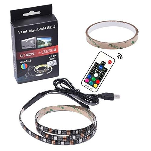 EveShine Neon Accent Strips Bias RGB Lights with for HDTV, TV PC, Multi Color