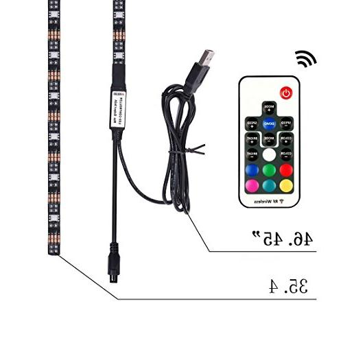EveShine Accent LED Strips Backlight RGB Lights Remote TV PC,