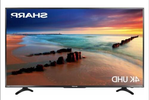 NEW Sharp 50 Inch 4K LED 2160p SMART FULL ULTRA HDTV Roku TV