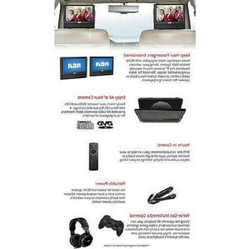 "New Dual DVD 9"" AV Video Games Outputs"