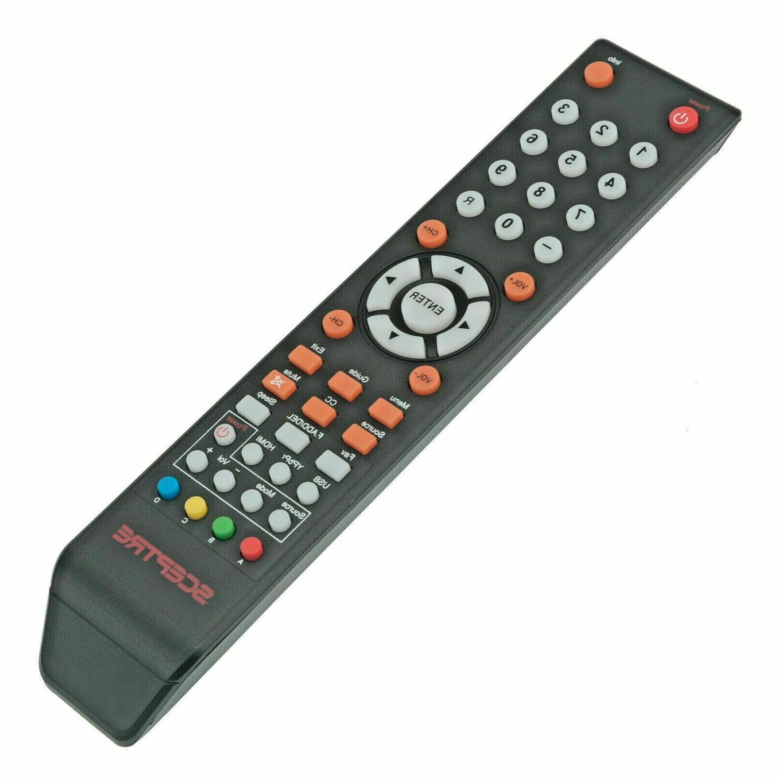 New SCEPTRE TV Remote Control 8142026670003C LED LCD TV X505