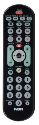 Audiovox RCRBB04GR 4 Device Big-Button Universal Remote Cont