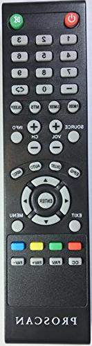 USARMT Replaced Proscan TV Remote for RLDED3258A-F RLDED3258
