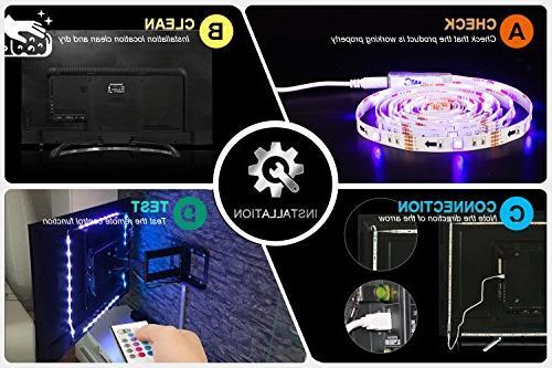 PANGTON Led Strip Lights 6.56ft TV USB Backlight with Color 5050 Bias for 40-60