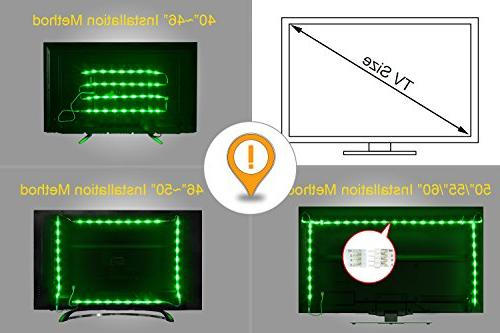 PANGTON Lights 6.56ft for TV USB Kit with 5050 40-60