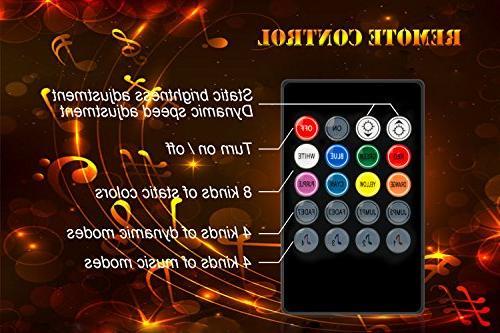 LED Strip Lights, LED TV 2M/6.56ft to Beats of Music LED 40 to 60 Light IR Remote, LED TV
