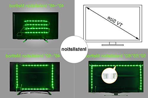 LED Lights, LED TV Backlight 2M/6.56ft to Music LED 40 to 60 HDTV RGB Flexible Light LED Lighting