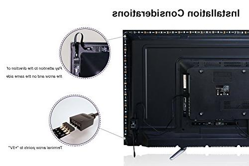 LED Strip LED 2M/6.56ft Sync to Beats of LED 40 in HDTV Flexible LED TV Bias