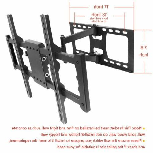 "Tilt&Swivel LCD LED Wall mount Bracket Motion 32""-50"" Sunyear"
