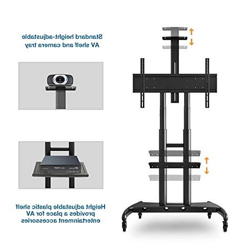 "North Bayou Mobile TV Cart TV Stand Wheels for 55"" - 80"" Inch OLED Flat Screens to AVA1800-70-1P"