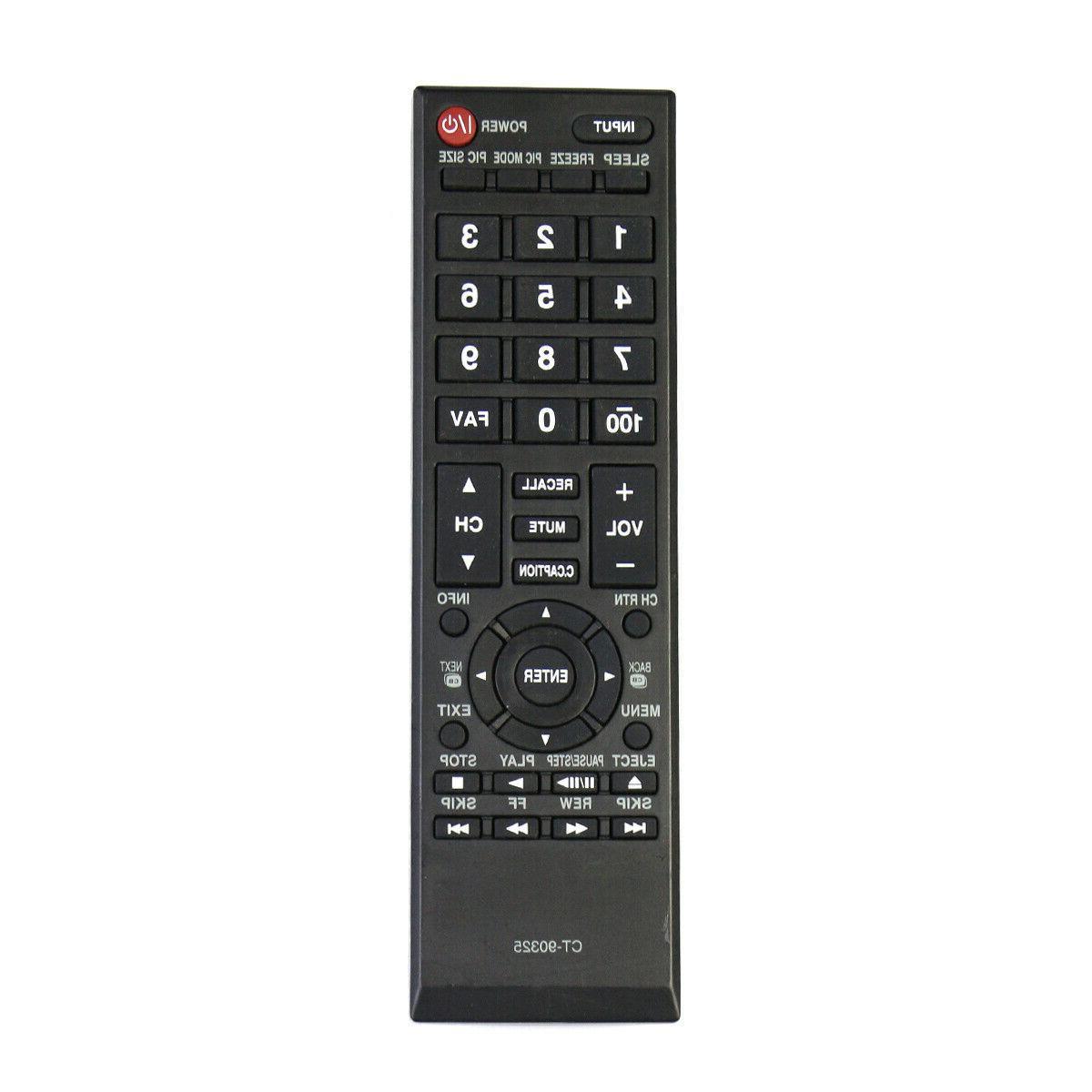 New CT-90325 Remote for Toshiba TV 40L5200U 32C120U 40L1400U