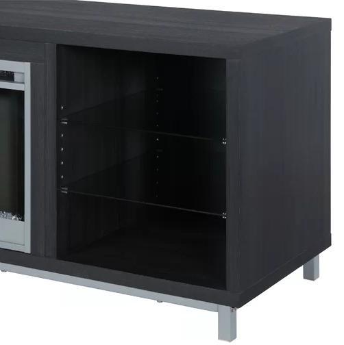TV Stand Fireplace LED Shelves Living Room