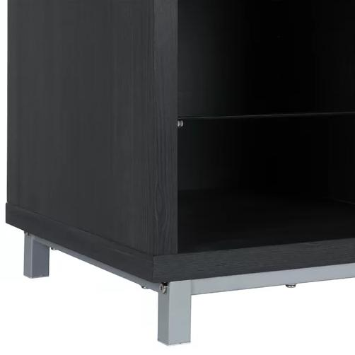 TV Stand Fireplace LED Entertainment Shelves Room