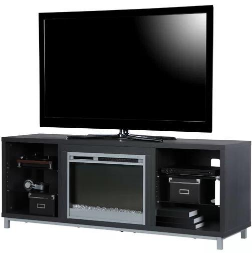 """TV Fireplace Entertainment Center 70"""" Heater Shelves"""