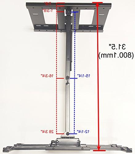 "THE Wall Mount Sharp 55"" Smart 4K Ultra TV Roku TV Model: LC-55LBU591U Maximum 31.5 inches"
