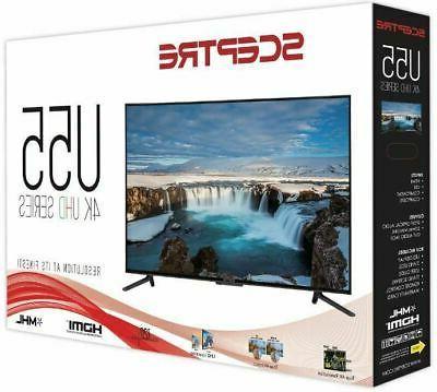 Ultra HD Home HDMI Flat Slim Clear 55 Inch 60Hz
