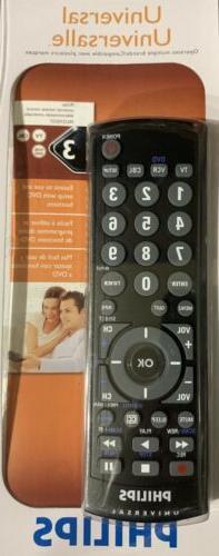 Philips Universal Remote Control TV DVD VCR CABLE SRU2103/27