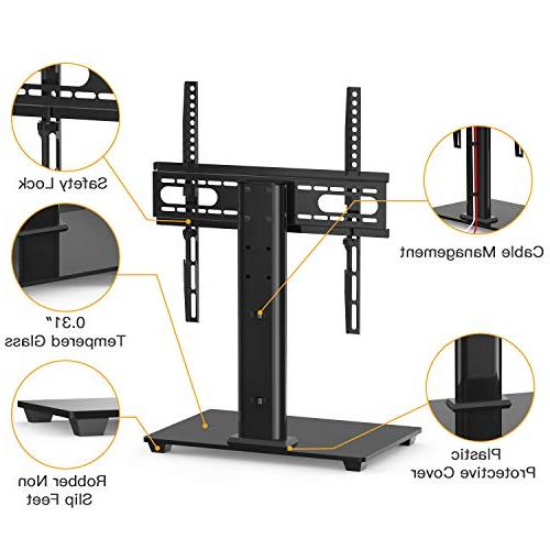 PERLESMITH Universal - Table Top TV Stand 37-55 LCD LED TVs - Height Stand Base VESA 400x400mm