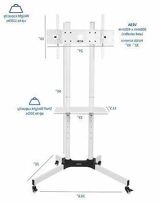 "VIVO Mobile Cart 65"" Flat"