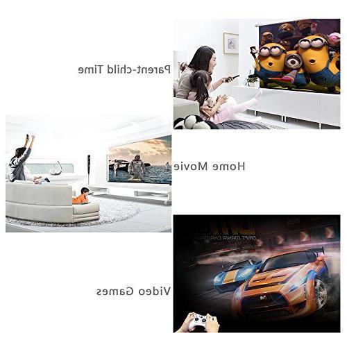 Modawn 1080P Wifi Display 1200 UNIC WIFI LED for Party Video DVD PC Laptop USB/AV/SD/VGA/HDMI Input