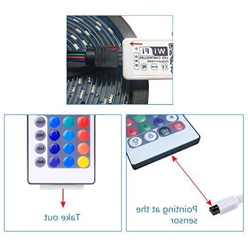WenTop Wifi Controlled Strip Lights Works IOS,IFTTT, Google Assistant