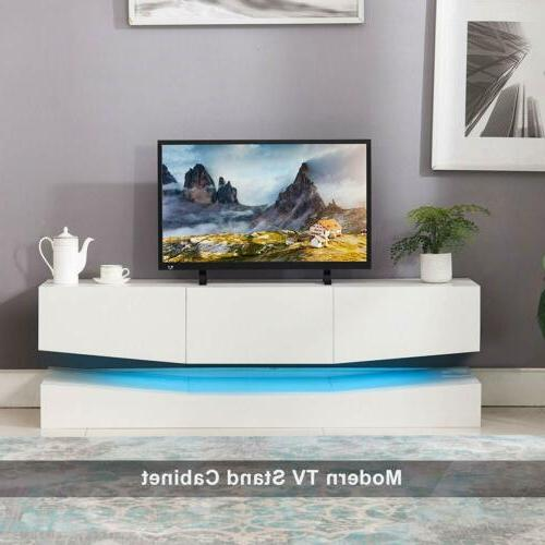 Wood LED Stand Wall Center Cabinet