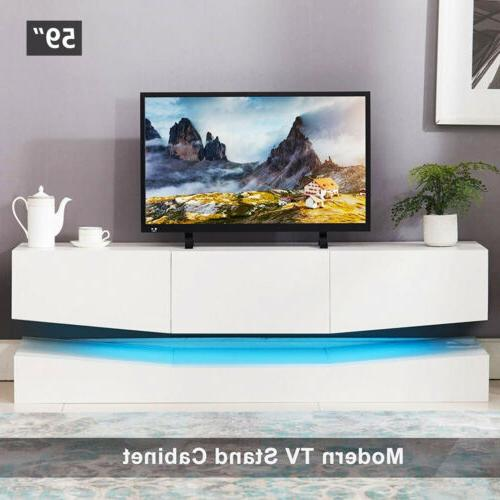 Wood Floating TV Stand Center Cabinet Room